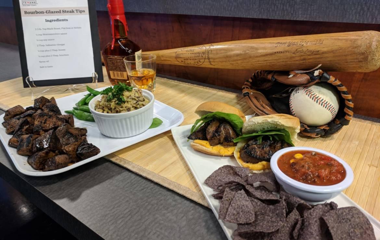 Bourbon-Glazed Steak Tips Recipe